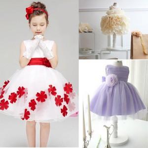 Girl-dress-cute-girl-wear-2015-girls-big-flower-child-princess-dress-beige-dresses-floral-vestidos